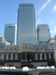 Canary Wharf Tower from Central London